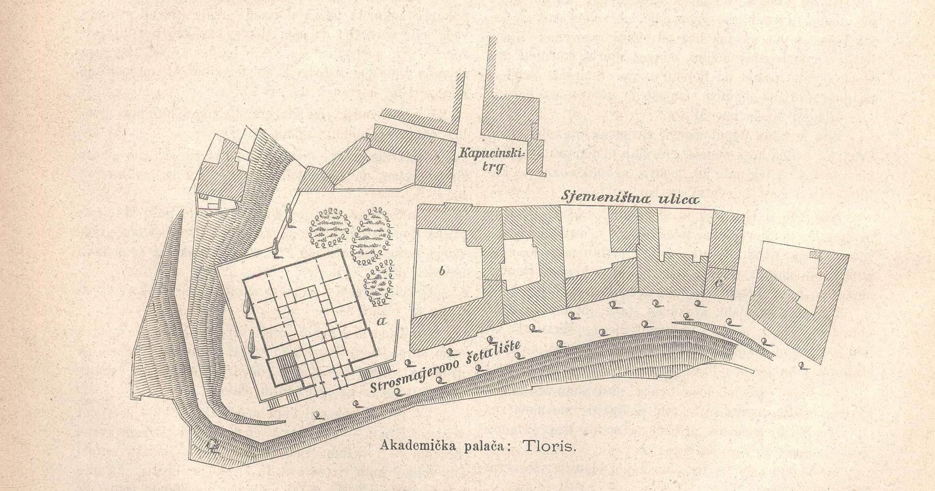 Tlocrt Akademičke palače